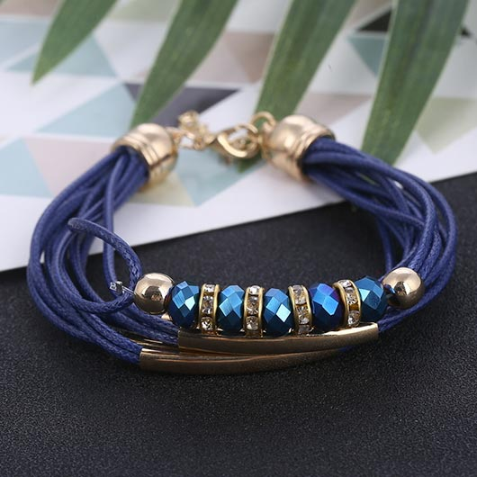 Martha Bracelet with crystals in blue