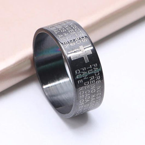 Abraham Ring in black steel
