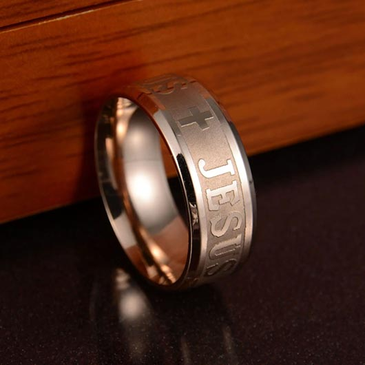 Rose Gold Bartholomäus Ring in stainless steel
