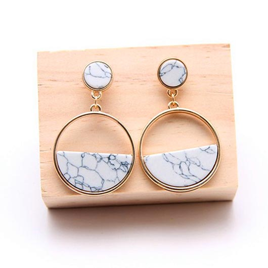 Priscilla Earrings with white natural stones