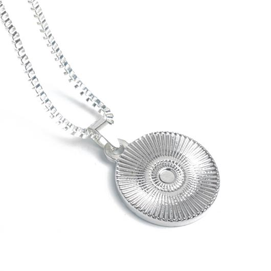 Thaddäus Necklace with coin pendant in silver