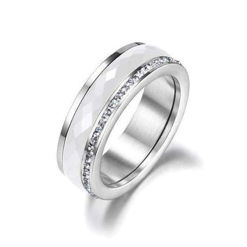 Talitha Purity Ring in silver with ceramic material