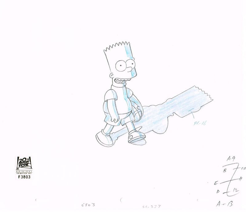 5F03 (Season 9) | Simpsons Production Art