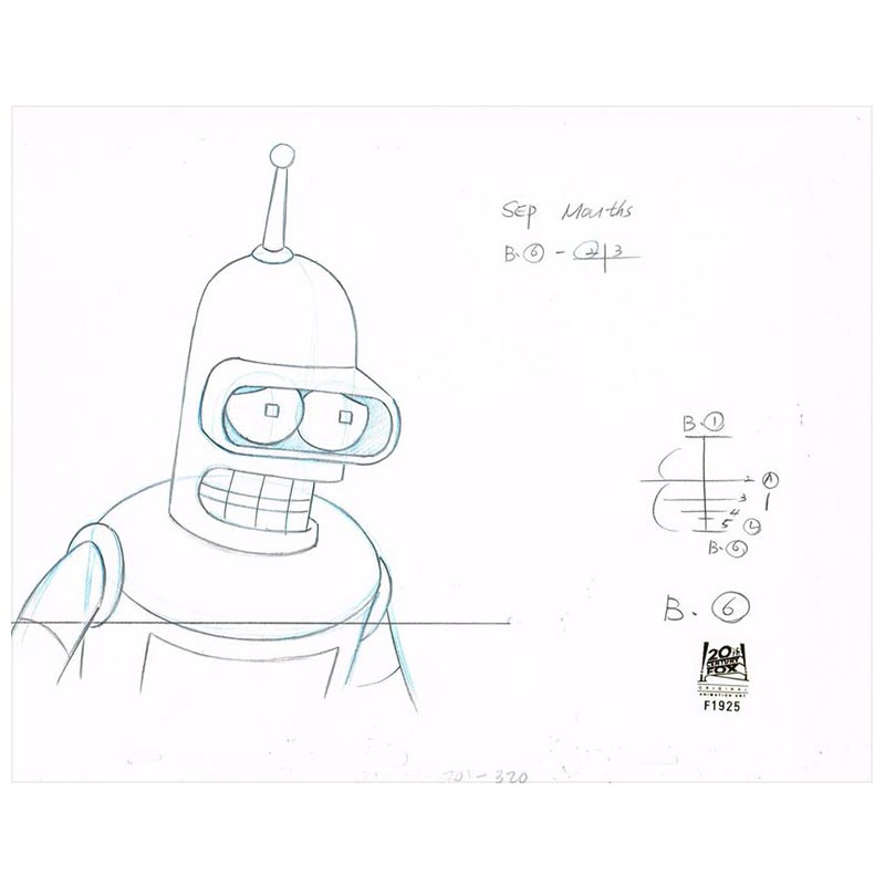 7ACV01 (Season 7) | Futurama Production Art thumb