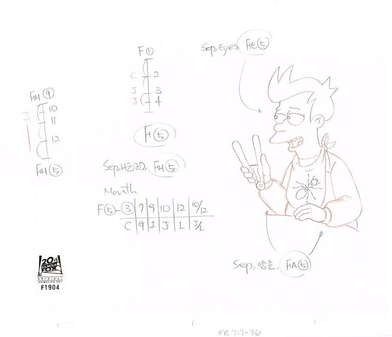 7ACV17 (Season 7) | Futurama Production Art thumb