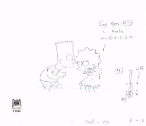 9F08 (Season 4) | Simpsons Production Art