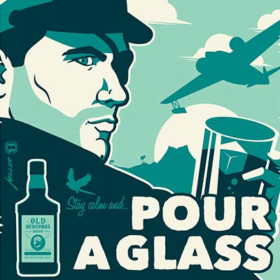 Stay Calm and Pour a Glass variant by Brian Miller | Archer