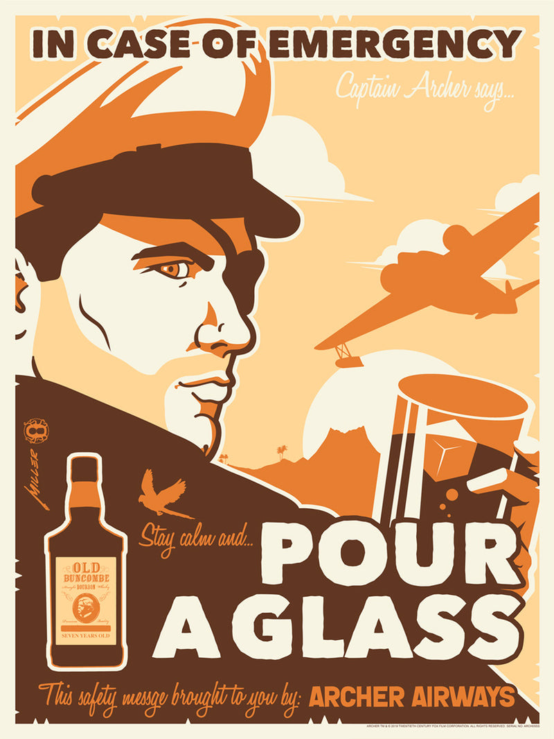 Stay Calm and Pour a Glass by Brian Miller | Archer