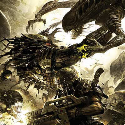 Three World War #4 by Raymond Swanland | Aliens vs Predator