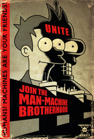 Unite - Machines Are Your Friends | Futurama (canvas)