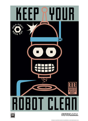 Keep Your Robot Clean | Futurama