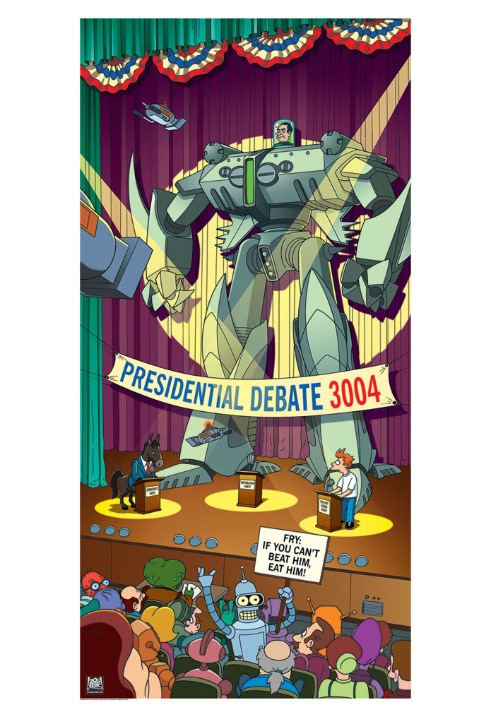 Debate 3004 | Futurama (close up)