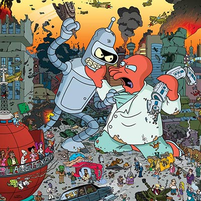 Attack! Bender vs Zoidberg | Futurama