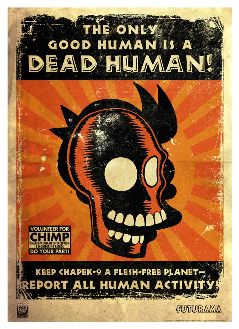 The Only Good Human is a Dead Human | Futurama