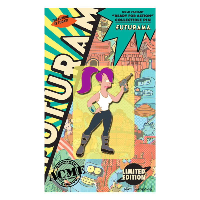 Ready for Action Gold Variant Collectible Pin | Futurama
