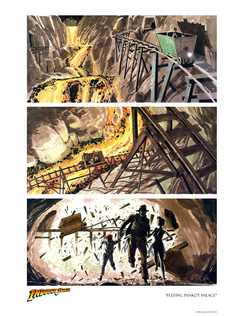 Fleeing Pankot Palace Storyboard Art | Indiana Jones
