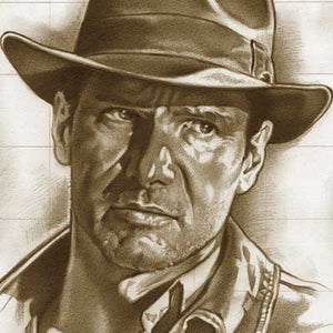 Indiana Jones: Head Study by Lawrence Noble