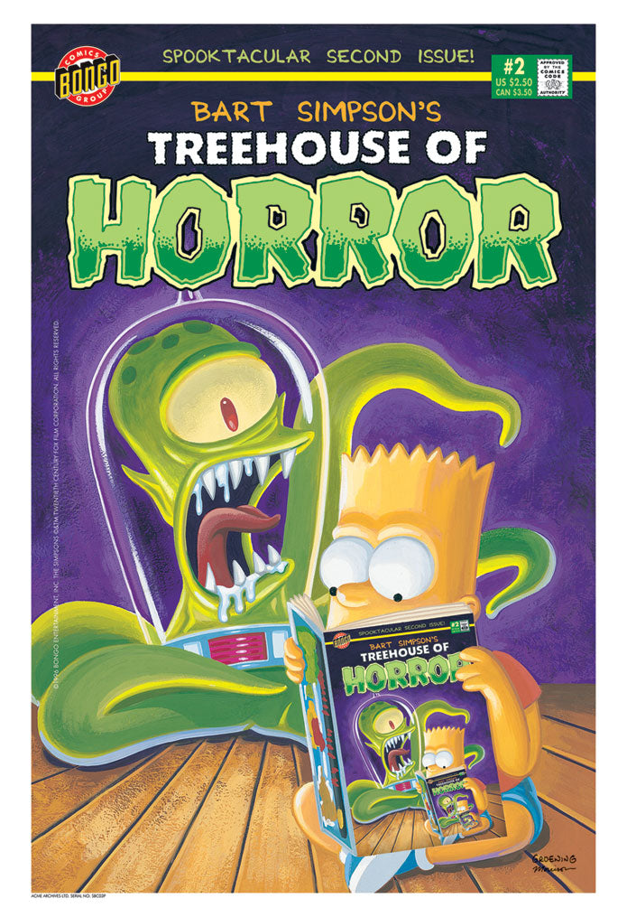 Bart Simpson's Treehouse of Horror #2 | The Simpsons canvas