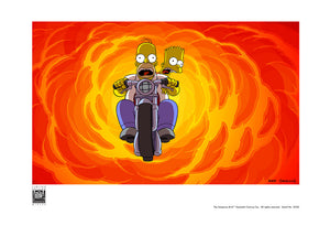 Bart and Homer on Bike | The Simpsons Movie