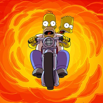 Bart and Homer on Bike | The Simpsons Movie thumb