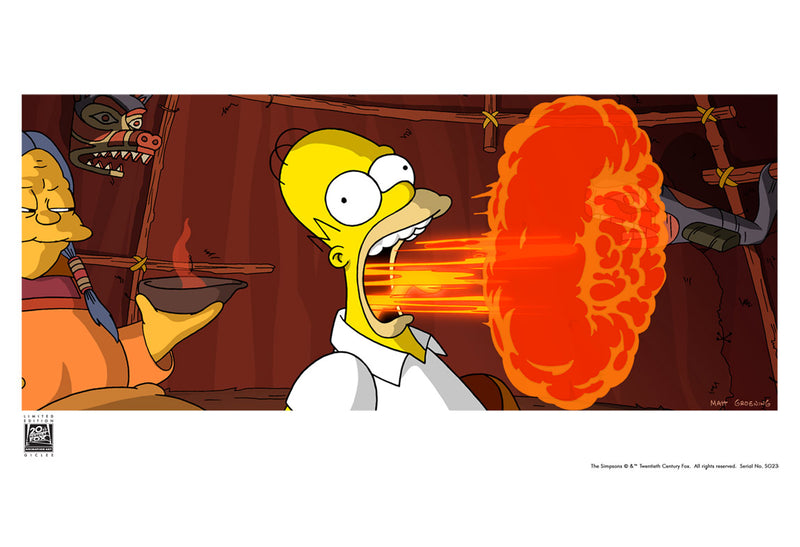 Flaming Homer | The Simpsons Movie