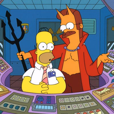 Bart And Homer On Bike The Simpsons Movie Acme Archives Direct