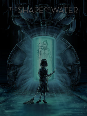 Princess Without a Voice by Barry Blankenship | The Shape of Water glow