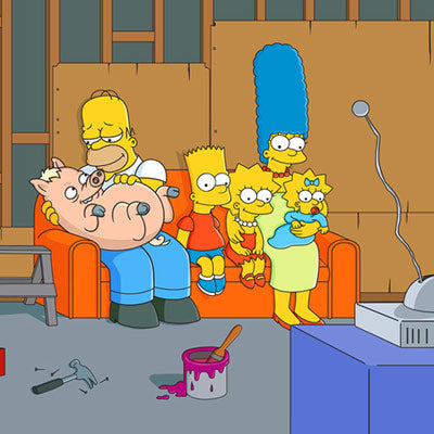 Couch Gag: Family with Pig | The Simpsons thumb