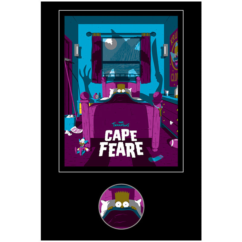 Cape Fear Set collectible pin Bart | The Simpsons back