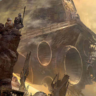 Tie Fighter Down by Stephan Martiniere | Star Wars