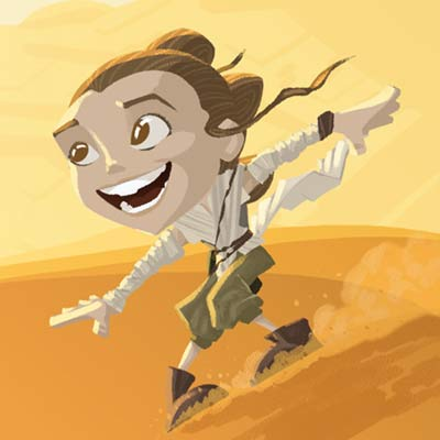Little Rey's Destiny by Nick Scurfield | Star Wars