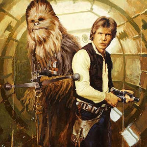 Han and Chewie by Christopher Clark | Star Wars