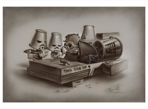 These Aren't the Droids by Noah | Star Wars litho