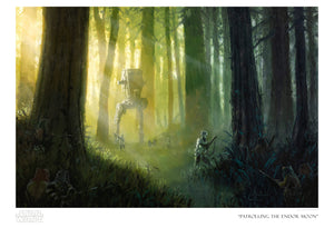Patrolling the Endor Moon by Christopher Clark | Star Wars paper