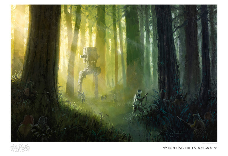Patrolling the Endor Moon by Christopher Clark | Star Wars thumb