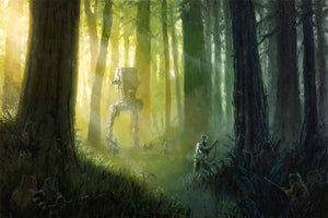 Patrolling the Endor Moon by Christopher Clark | Star Wars canvas