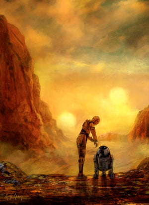 Helping Hands by Cliff Cramp | Star Wars canvas