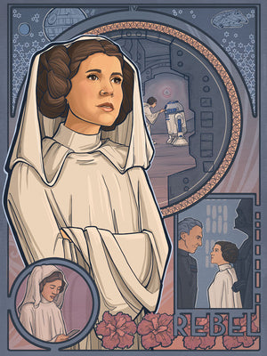Princess of Rebels by Karen Hallion | Star Wars Leia