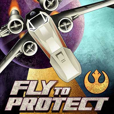 Fly to Protect by Mike Kungl | Star Wars