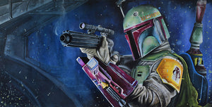 Last One Standing by Greg Lipton | Star Wars Boba Fett Canvas