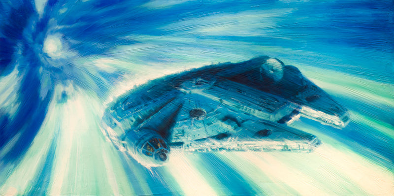 Millennium Falcon in Hyperspace by Christopher Clark | Star Wars