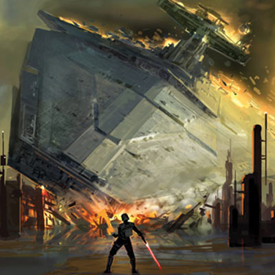 Apprentice Crashes Destroyer by Amy Beth Christenson | Star Wars