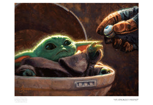 An Unlikely Friend by Christopher Clark | Star Wars Baby Yoda Child paper