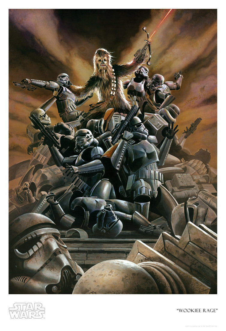 Wookiee Rage by Brian Rood | Star Wars