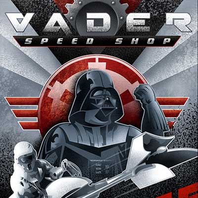 Vader Speed Shop by Mike Kungl | Star Wars