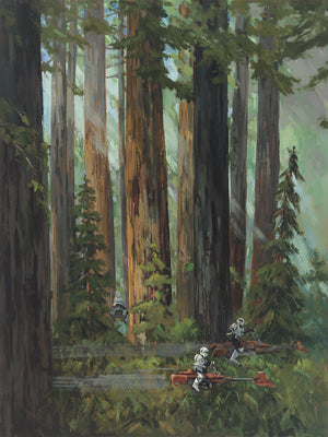 Forest Pursuits by Liné Tutwiler | Star Wars canvas