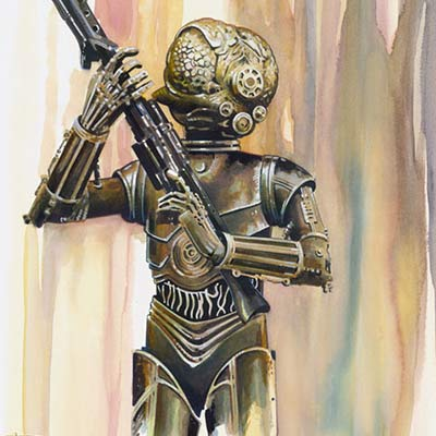 Bounty Hunter: 4-LOM by Brian Rood | Star Wars