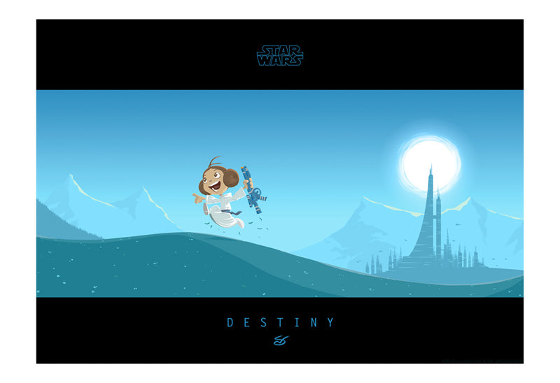 Little Leia's Destiny by Nick Scurfield | Star Wars