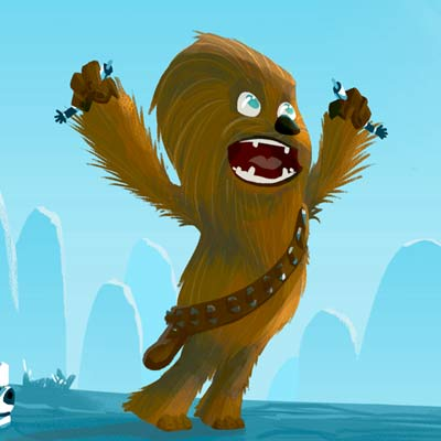 Little Chewie's Destiny by Nick Scurfield | Star Wars