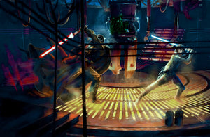 Jedi Duel by Guy Vasilovich | Star Wars canvas